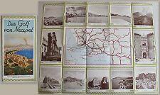 Reiseprospekt: Der Golf von Neapel (um 1935) mit Karte & Abbildungen Italien xz