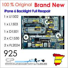 U1502 + L1503 + D1501+ 2xC1530 + 2xFL2024 reparar luz trasera IPhone 6  6 Plus