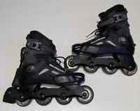 Rollerblade Black Synergy ABT2 Skates W/ 74mm Black Hole Wheels, Size Mens 7 25