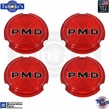 70-72 GTO RALLY II Wheel Red PMD Center Cap Emblem Insert USA Made - Set of 4