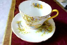 """SHELLEY """"DAFFODIL TIME"""" BREAKFAST CUP SAUCER PLATE TRIO LARGE- RARE"""