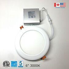 6'' Recessed LED Panel Light Ceiling/Pot Light 12W Dimmable Warm White 3000k ETL