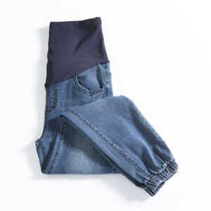Boyfriend Wide Leg Pregnant Jeans Maternity Straight Pregnancy Nursing Pants