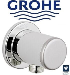 """Grohe Relexa 28626000 Wall Shower Outlet Elbow G 1/2"""" Chrome/Matt Silver Cap NIB"""
