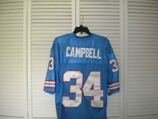 HOUSTON OILERS EARL CAMPBELL # 34 FOOTBALL JERSEY