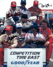 ALLISON+YARBOROUGH+HILLIN+BILL ELLIOTT HAND SIGNED 8x10 COLOR PHOTO+COA     RARE