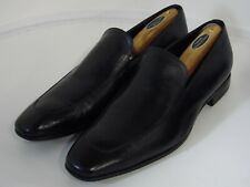 HUGO BOSS Mens  Leather Apron Tab Slip On Dress Shoe Loafers Black 11.5