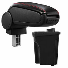 [pro.tec] Reposabrazos Hyundai I30 GD piel sintética apoyabrazos negro/ rojo