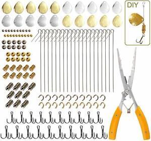 141pcs Fishing Accessories Spinner Blade Bait Kit  DIY Fishing Lure Making Tool
