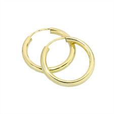 PAAR Creolen 20mm Sterlingsilber 925 vergoldet 2,5mm Stärke Ohrringe 2563