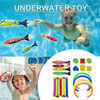 Diving Game Toy Set Swimming Pool Throwing Toy Dive Swim RingCircle Underwater