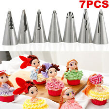 7pc Stainless Steel Flower Icing Piping Nozzles Tips Cake Decorating Pastry Tool