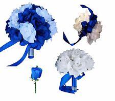 USA Seller - 9pc Set Royal Blue & White Wedding Package