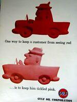 """1960 Gulf Autos Original Print Ad 8.5 x 11"""""""