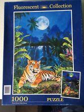 Clementoni Rompecabezas brillan en la oscuridad-Ojos del Tigre