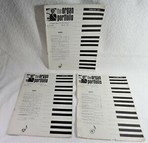 RARE Lot Of Three (3) 1966 THE ORGAN PORTFOLIO - FEB-APR-OCT - GoodCond $19.88