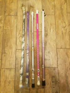 Lot of 5 Lacrosse Sticks Stx Brine Verge Titanium Lithium Hail Cinch purple pink