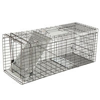 "32"" Humane Animal Trap Steel Cage for Live Rodent Control Rat Squirrel Raccon"