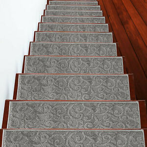 Stair Treads Leaves Collection Contemporary and Soft Stair Treads Pack of 4/7/13
