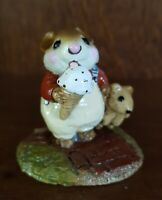 Wee Forest Folk Mousey's Cone With Cute Teddy Bear, 1981 Wm Peterson M-100
