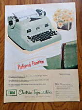 1951 IBM Electric Typewriter Ad  Preferred Position