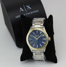 NEW AUTHENTIC ARMANI EXCHANGE NICO SILVER GOLD BLUE MEN'S AX2332 WATCH