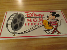 Walt Disney World 1987 Disney MGM studio auto tag never used