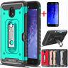 For Samsung Galaxy J3 V 2018/Orbit/Star/Express/Amp Prime 3 Case & Card Pocket