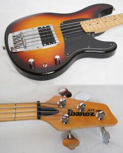 Used 1995 IBANEZ / Fujigen ATK100 Sunburst MIJ Bass Guitar Good Condition