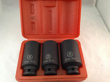 "Bi Hex Impact Socket 3pc Hub Nut Socket Set 12pt 1/2"" Dr."
