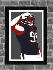 Houston Texans J.J. Watt Portrait Sports Print Art 11x17