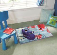 Children Disney Nemo Finding Dory Blue Multi Non Slip Rug in 50 x 80 cm