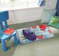 Children Disney Nemo Finding Dory Blue Multi Non Slip Rug in 50 x 80 cm