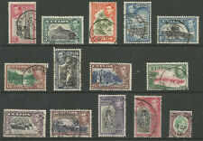 CEYLON SG386-97 THE 1938-49 GVI SET OF 14 FINE USED CAT £30 AS CHEAPEST