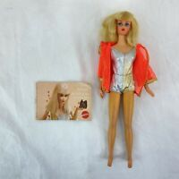 VTG 1969 Dramatic New Living Barbie #1116 PLATINUM BLONDE Orig Outfit w/ Booklet