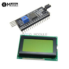 5V 12864 LCD Display 128x64 Yellow green 1602LCD IIC/I2C/SPI Serial for Arduino