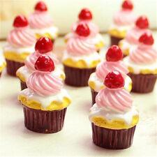 Miniature Dollhouse Strawberry Heart Cake Re-ment Garden Fairy Bonsai Decor 1PC♫