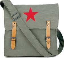 Sage Green Vintage Canvas Medic Red Star Military Shoulder Bag