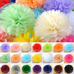 "20cm (8"") Tissue Paper Pom Poms Blooms Wedding Birthday Party shower Decorations"