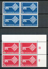 Nederland  906 - 907 in postfrisse blokken van vier