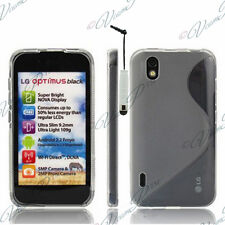 ACCESSOIRES HOUSSES COQUE GEL SILICONE TPU S STYLET FILMS TRANS LG Optimus P970