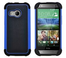 Shock Proof Heavy Duty Tough Armour Hard Case Cover for HTC One Mini 2 (m8 Mini) Blue