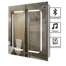 Bluetooth Speaker / Sensor/LED Illuminated Bathroom Mirror&Cabinet 650x600x130mm