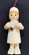 Vintage Midwest Importers Cannon Falls Nurse Wood Christmas Ornament 3�