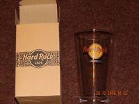 HARD ROCK CAFE LAS VEGAS STRIP NEVADA BEER DRINK GLASS COLLECTOR SOUVENIR NWT