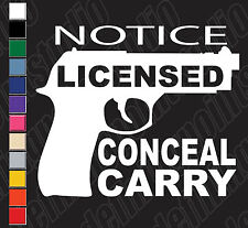 """5"""" Armed Permitted Conceal Carry Vinyl Decal"""