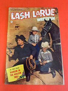 LASH LARUE WESTERN #  34  (1952 FAWCETT ) PHOTO COVER- WESTERN MOVIE COMIC BOOK