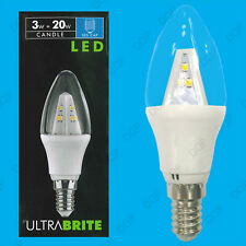 4x 3W LED Clear Candle SES E14 Ultra Low Energy Instant On Spot Light Bulb Lamp