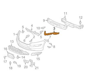 🔥 Genuine Front Left Bumper Headlight Bracket Lamp for Honda Accord 10-12 🔥