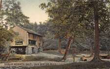 Berlin Heights Ohio Old Water Mill Scenic View Antique Postcard K28243